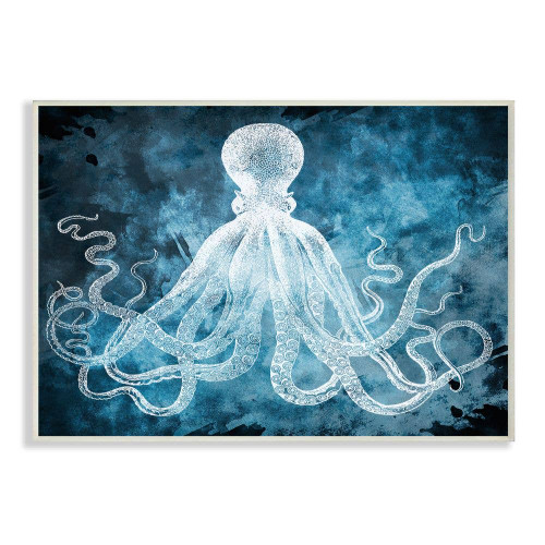 White Octopus Plaque Art