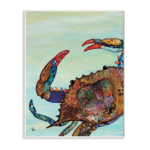 Colorful Crab Plaque Art