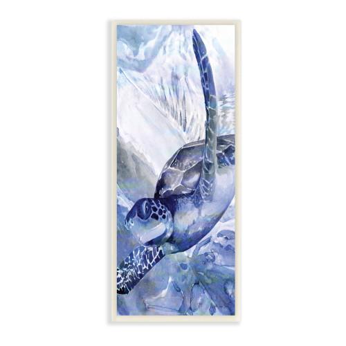 Blue Sea Turtle Plaque Art