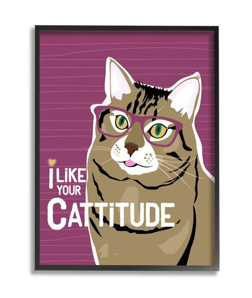 Cattitude Framed Art
