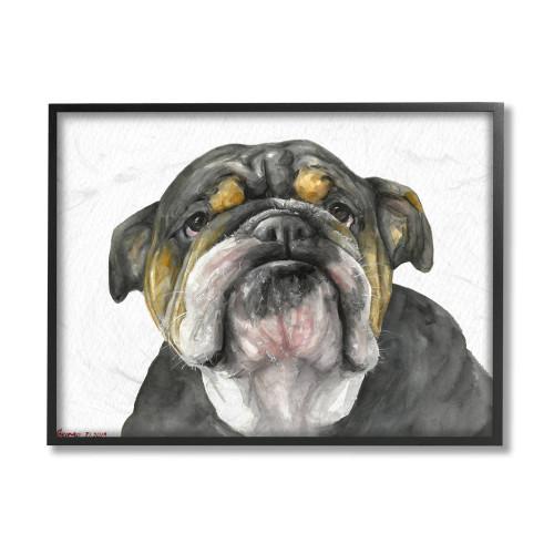 Black & White Bulldog Framed Art