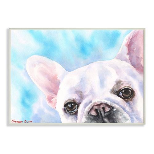 White French Bulldog Plaque Art