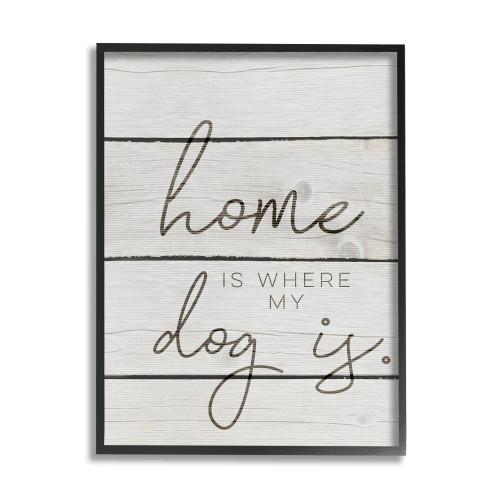 Home Is...Dog Framed Sign