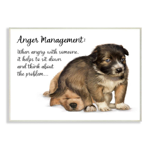 Anger Management - Dog Wall Plaque