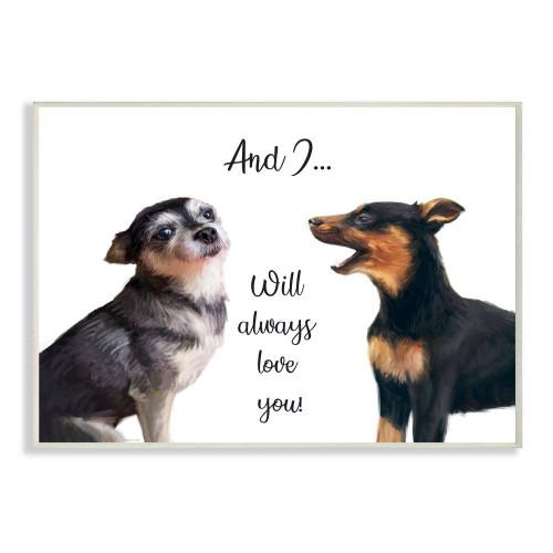 Dog Serenade Wall Plaque