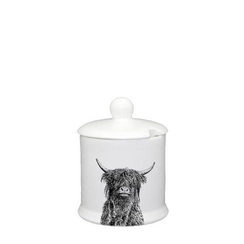 Highland Bull Condiment Jar