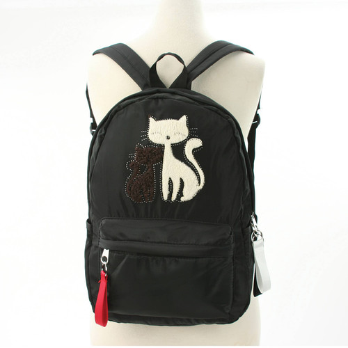 Furry Cats Backpack, Black