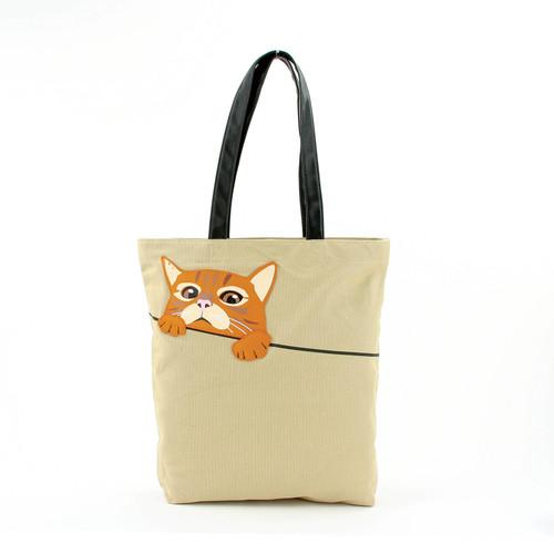 Orange Tabby Tote Bag