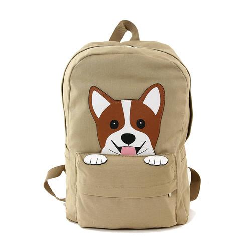 Corgi Canvas Backpack