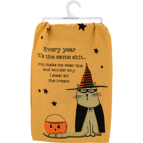 Every Year You Make Me Wear This - Cat Kitchen Towel