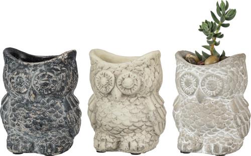 Owl Planter Set