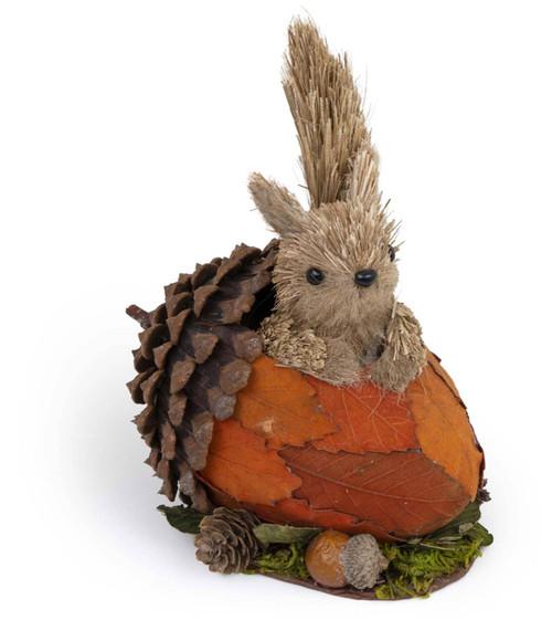 Squirrel In Acorn Figurine