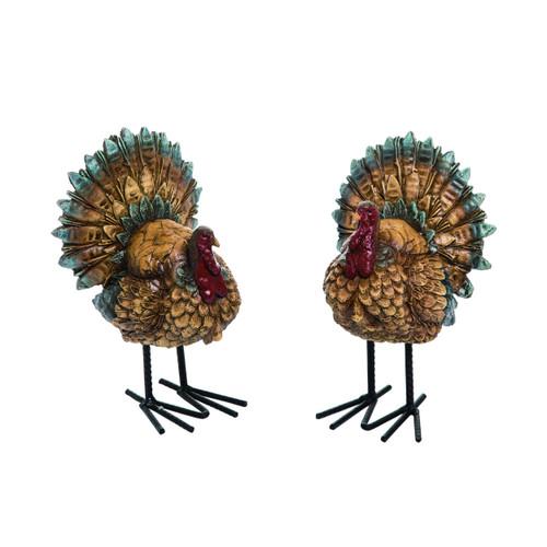 Fall Turkey Figurine Set