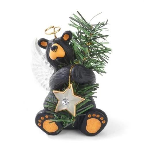 Black Bear Angel Tree Topper
