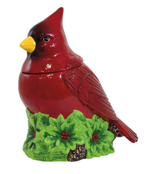 Cardinal Holiday Cookie Jar