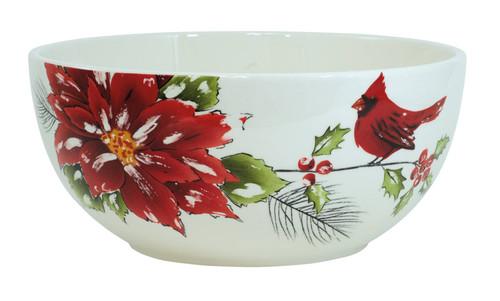 Cardinal Holiday Serving Bowl