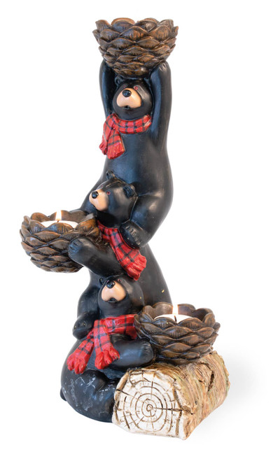 Black Bear Christmas Candle Holder