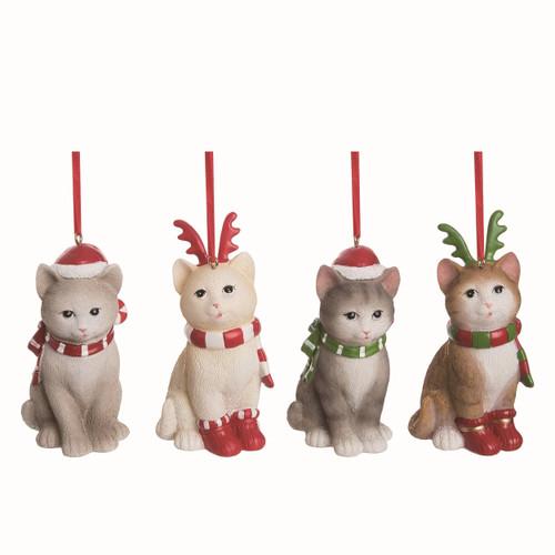 Cat Ornament Set of 4