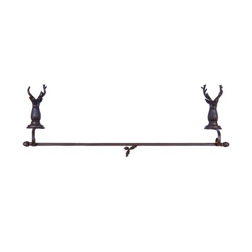 Bronze Metal Reindeer Stocking Holder