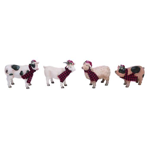 Farm Animal Holiday Figurine Set