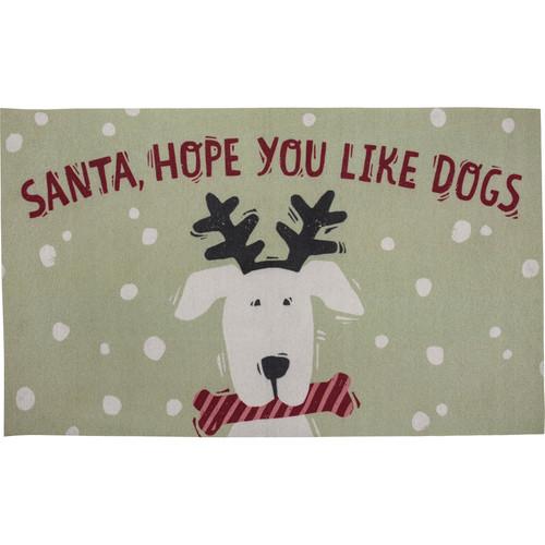 Santa, Hope You Like Dogs Area Rug
