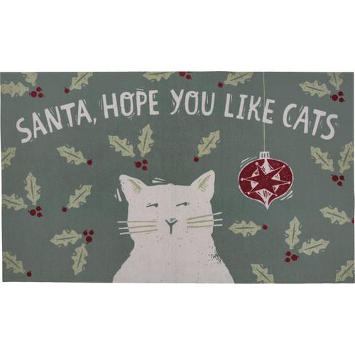 Santa, Hope You Like Cats Area Rug