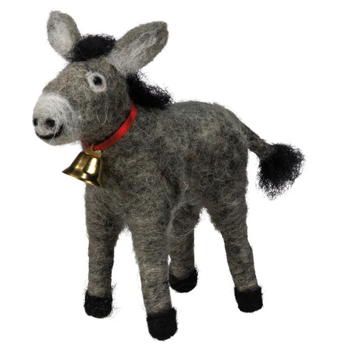 Donkey with Bell Figurine