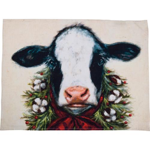 Calf Christmas Kitchen Towel