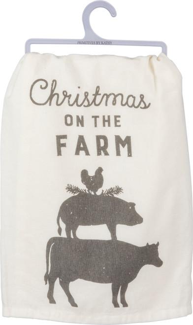 Farm Animal Christmas - Kitchen Towel