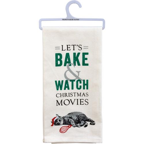 Bake & Watch Christmas Movies - Cat Kitchen Towel
