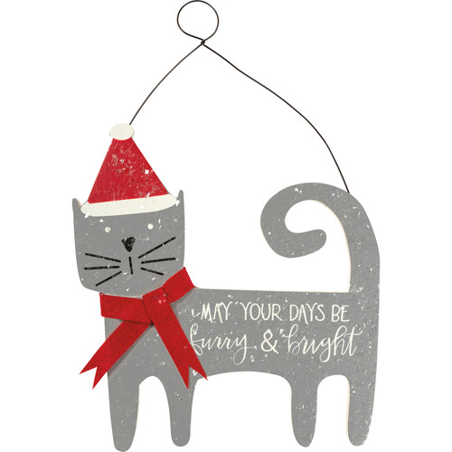 May Your Days Be Furry & Bright - Cat Hanging Décor