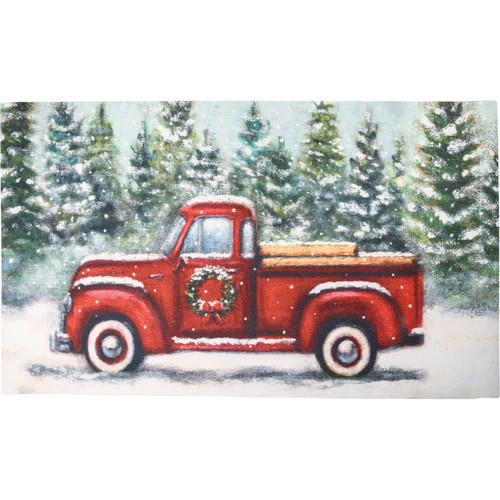 Red Farm Truck Area Rug