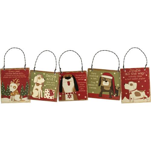 Sassy Dog Ornament Set