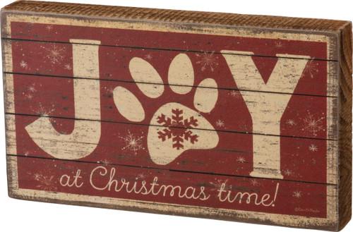 Joy At Christmas Time Box Sign