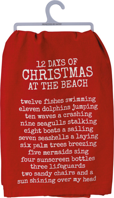 12 Days of Christmas At The Beach - Kitchen Towel