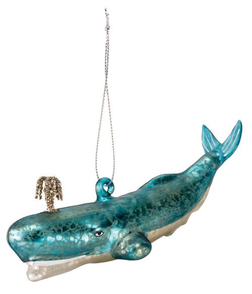 Blue Whale Glass Ornament