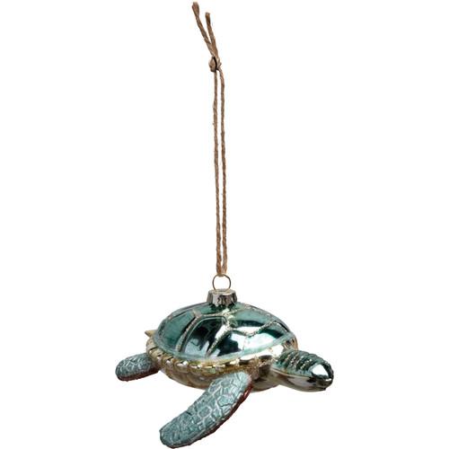 Glass Sea Turtle Ornament