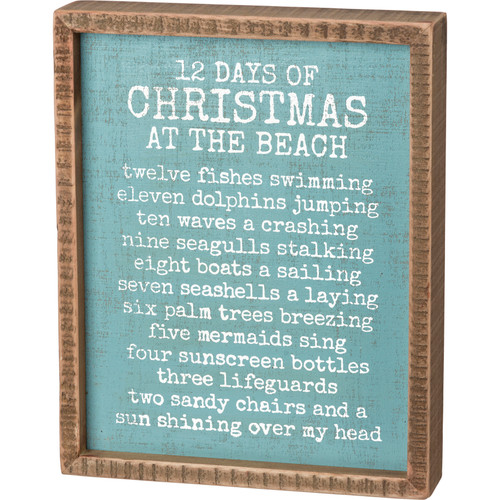 12 Days of Christmas At The Beach - Box Sign
