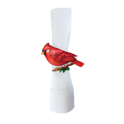 Christmas Cardinal Napkin Ring Set of 6