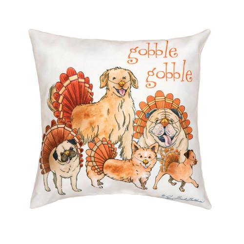 Gobble Gobble -  Dog Throw Pillow