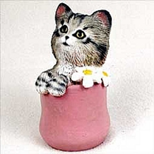 My Kitty in a Flower Pot Figurine