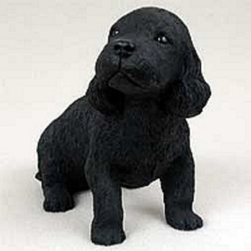Cocker Spaniel, Black Puppy Figurine