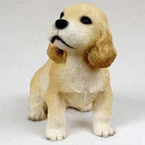 Cocker Spaniel, Blonde Puppy Figurine