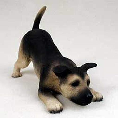 German Shepherd, Black & Tan Puppy Figurine