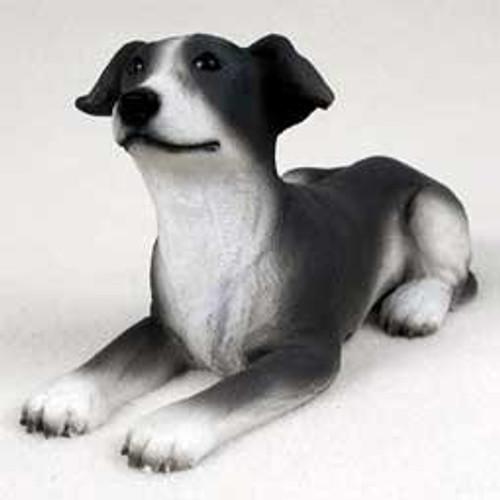 Greyhound, Blue & White Puppy Figurine