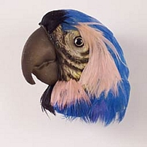 Blue Parrot Feathered Magnet