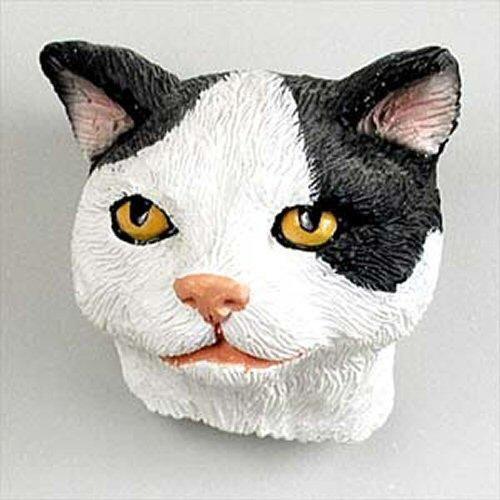 Black & White Manx Cat Magnet