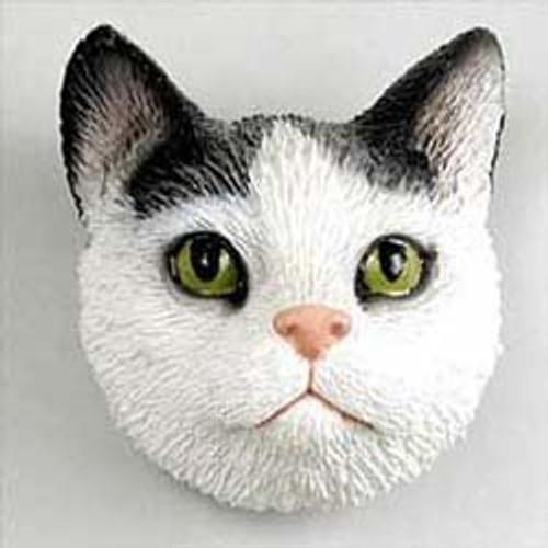 Black & White Tabby Cat Magnet