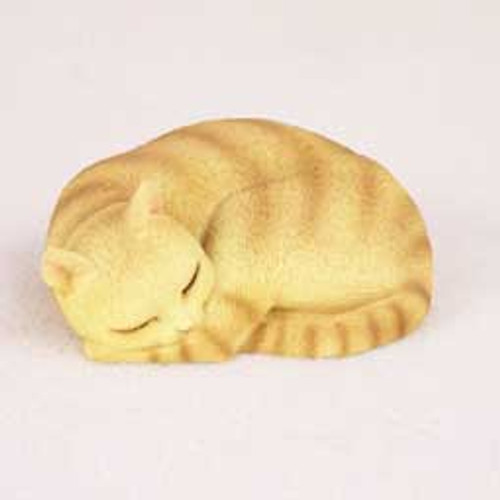 Orange Tabby Cat Sleeping Figurine