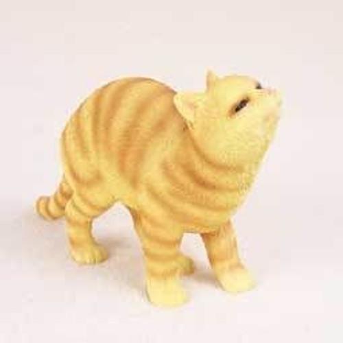 Orange Tabby Cat Happy Figurine